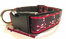 USA Stars, Stripes, and Skulls Dog Collar with Separate Leash Option, Handmade