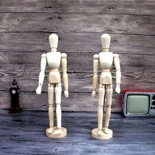 "12"" Wooden Figure Manikin Mannequin Puppet Wood Male Human Artist Drawing Model"