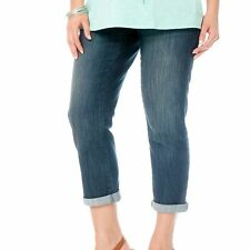 Oh Baby by Motherhood Secret Fit Belly Crop Cuffed Maternity Jeans Capri S M NEW