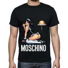 Black Men Mens Modern Sexy New T-Shirt Tee Sexy Girl Moschino