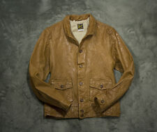 LVC Levi's Vintage Clothing 1930s Menlo Cossack leather jacket in mid Brown, M