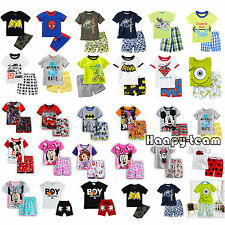 Cartoon Baby Kids Boys T-shirt Tops+Pants Toddler Nightwear Pyjamas Pajamas Sets