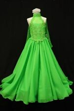 D1 NEW BABY GIRL GLITZ PAGEANT FORMAL PARTY FLORAL LONG DRESS 7 8 10 12 14 GREEN