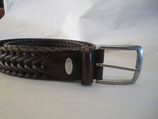NEW! Nike Mens NIKEGOLF Brown Leather Braided Woven Golf Casual Belt 34 Nike
