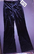 NWT Black VELVET Lycra JAZZ PANTS child lowrise bootcut Wolff Fording Dance