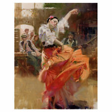 Kings Wood Art 'Flamenco in Red' Painting Print on Canvas