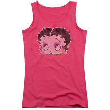 Betty Boop Pop Art Betty Boop Juniors Tank Top Shirt HOT PINK