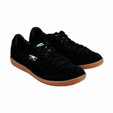 Puma Super Liga Modern Heritage Mens Blue Suede Lace Up Sneakers Shoes