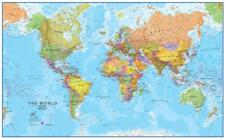 World MegaMap 1:20 Wall Map, Educational Poster Giant Poster