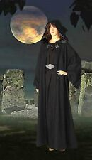 Medieval Wicca Pagan Ritual Robe Coat with Hood Handmade Natural Cotton