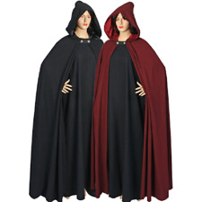 Medieval Style Cloak Cape with Satin Lined Hood Handmade from Natural Cotton