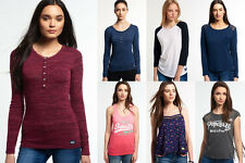 New Womens Superdry Tops Selection. Various Styles & Colours