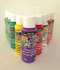 2oz Decoart Crafters Acrylic Paint new every Colours Art Craft Waterbased Artist
