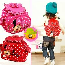 Fashion Minnie Kids Little Baby Girls Leisure Backpacks Cute Cartoon School Bag