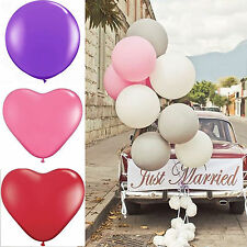 3pcs 36'' Wedding Car Decor Heart Balloons Jumbo Latex Birthday Party Photo Prop