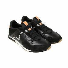 Diesel S-Furyy Mens Black Leather & Mesh Lace Up Sneakers Shoes