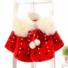 Newborn Infant Baby Clothes Girls Cute Outerwear cappa Coat Tops Toddler Clothes