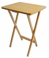Folding TV Snack Table Compact Laptop Coffee Natural Wooden Table Easy Storage