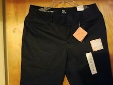 DOCKERS Women's  Size 12 Pants Khaki Black Straight Leg Truly Slimming NWT 29/32