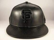 MLB San Francisco Giants New Era 59FIFTY Fitted Hat Cap Black Leather