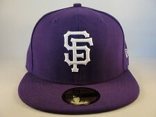 MLB San Francisco Giants New Era 59FIFTY Fitted Hat Cap League Basic Purple