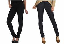 Levis 524 Skinny Jeans Womens Super Low Rise Dark Wash Dot Print Stretch Denim