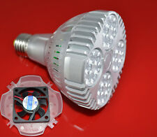 PAR30 Led Light Bulb E27 35W Cooling Fan White/Warm/Naturally White 110-220v