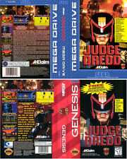 Judge Dredd Mega Drive NTSC PAL Replacement Box Art Case Insert Cover Scan