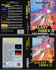 Galaxy Force II 2 Sega Mega Drive NTSC PAL Replacement Box Art Case Insert Cover