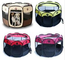 New Dog Puppy Playpen Kennel Pet Exercise Pen Cage Folding Fence Oxford Tent