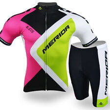 Merida Men's Cycling Kit Reflective Bike Jersey & Shorts Road Bike Cothing Set