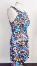W118 BY WALTER BAKER MS SIZE SMALL MULTI-COLOR GARDEN FLORAL PRINT FASHION DRESS