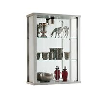 RETAIL SALE DOUBLE LOCKABLE WALL MOUNTED GLASS DISPLAY CABINET