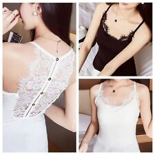 Deep V-neck Casual Tank Shirt Sleeveless Blouse Lace Vest Tops Sexy Camisole