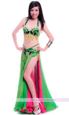 New Belly Dance Performance Costume Bra&Belt&Skirt 34B/C 36B/C 38B/C 11 colors