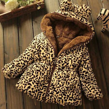 Baby Girls Tops Winter Warm Hooded Coat Kids Cute Outerwear Jacket Clothing New