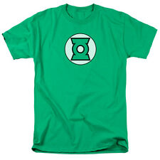 Justice League Green Lantern Logo Mens Short Sleeve Shirt KELLY GREEN