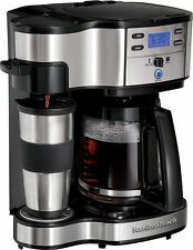 Hamilton Beach 2-Way Brewer 49983 1 Cup or 12 Cups Coffee Maker - Black