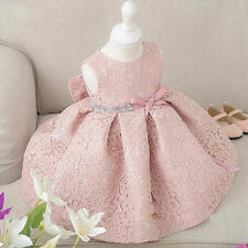 Newborn Baby Gown Infant Girl's White Princess Lace Baptism Dress Toddler Baby