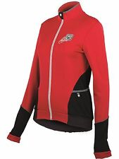 Santini Red Mearesy Thermofleece Womens Long Sleeved Cycling Jersey