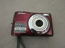 Nikon Coolpix L22 Red Digital Camera 12.0 MP Tested Works