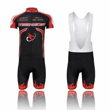 Merida Team Cycling Short Kit Men's Cycling Jersey & (Bib) Shorts Set Red S-5XL