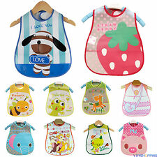 Toddler Baby Kid Boys Girls Waterproof Saliva Dribble Towel Infant Feeding Bibs
