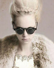 NEW Steampunk Goth Goggles Glasses Retro Flip Up Round Sunglasses Vintage GV