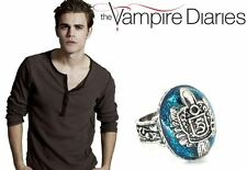 The Vampire Diaries Stefan Salvatore, Crest, Lapis Antique Silver, Daylight Ring