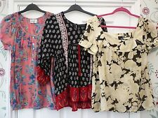 Ladies Teen 6 10 HIGH STREET Cheesecloth Boho Hippy Gypsy Festival Tunic Top