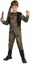 Boys Army Soldier Costume Military Ranger Camouflage Camo Green Halloween Kids
