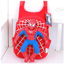 Kids-Baby-Boy-Girl-Spiderman-Stuffed-Toy-Backpack-Schoolbag-Toddler-Should