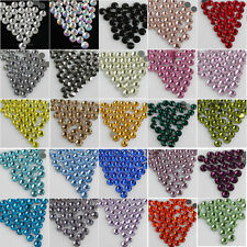 1440p SS6 color crystal iron on/hot fix flatback glass faceted rhinestones beads