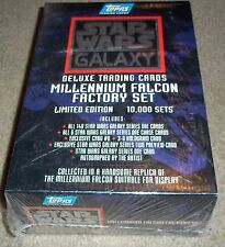 Topps Star Wars Galaxy Deluxe Card Millennium Falcon Factory Set sealed box auto